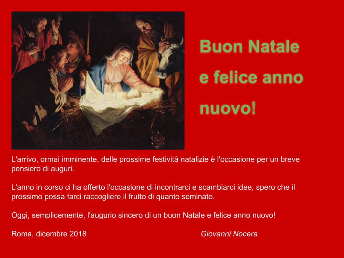 Auguri Di Buon Natale Al Marito.Auguri Di Buon Natale Giovanni Nocera